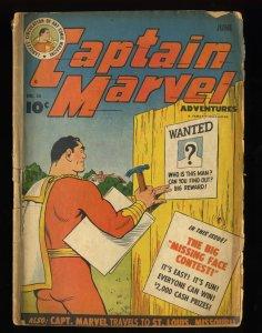 Captain Marvel Adventures #36 GD- 1.8 Qualified Read Description!