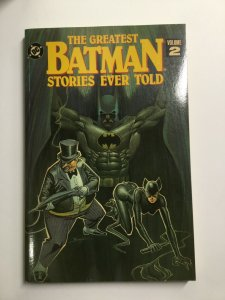 Greatest Batman Stories Ever Told Volume 2 Tpb Softcover Sc Near Mint Nm Dc