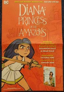 DIANA PRINCESS OF THE AMAZONS Promo Poster, 11 x 17, 2019 DC Unused 553