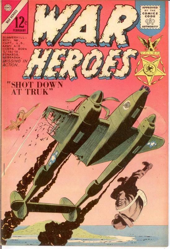 WAR HEROES (1963-1967 CH) 7 F-VF Feb. 1964 COMICS BOOK