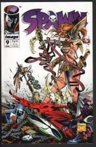 SPAWN #9-FIRST ANGELA-AGE OF ULTRON-NM minus-HIGH GRADE-1993-