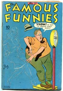 FAMOUS FUNNIES #132 1945-INVISIBLE SCARLETT O'NEIL COVER VG