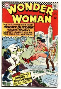 WONDER WOMAN #162 comic book Origin issue 1966-DC vg-