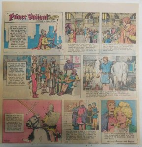 Prince Valiant Sunday #1733 by Hal Foster from 4/26/1970 2/3 Full Page Size !
