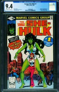 SAVAGE SHE-HULK #1 CGC 9.4-1ST APPEARANCE 1980 1998206003