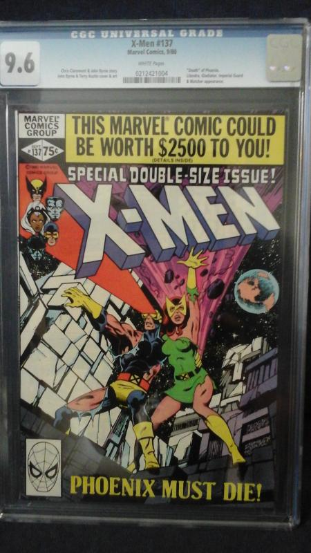 X-Men 137, cgc 9.6, white pages
