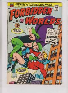Forbidden Worlds #136 FN/VF magicman meets nemesis - silver age comic  july 1966