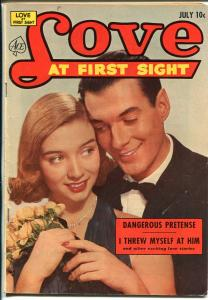 Love At First Sight #22 1953-Ace-spicy art-headlights-lingerie panels-VG