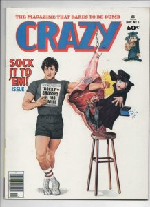 CRAZY #31 Magazine, VF/NM, Rocky Sylvester Stallone, 1973 1977, more in store
