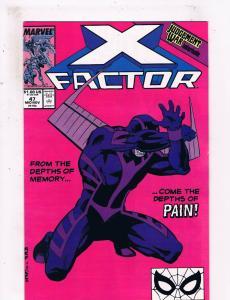 X Factor #47 VF Marvel Comics Comic Book X Men Nov 1989 DE25