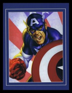 Captain America Avengers Framed 11x14 Marvel Masterpieces Poster Display