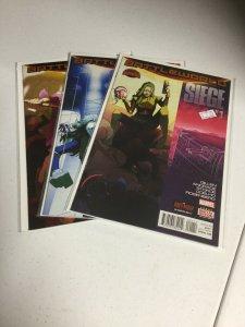 Siege Battleworld 1 2 3 Nm Near Mint Secret Wars Marvel