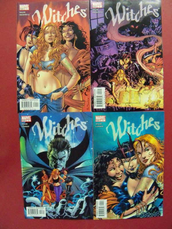 WITCHES COMPLETE SET 1 TO 4 MARVEL 2004 VF/NM