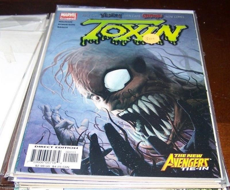Toxin #1 (Jun 2005, Marvel) 1st  venom Then carnage...now toxin +avengers spider