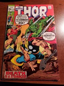 THOR (The Mighty)  1970  #178 FM 6.0 + Stan Lee, John Buscema