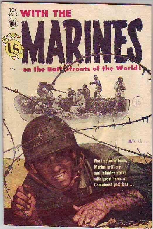 Marines on the Battlefronts of the World, With The #2 (Mar-54) VF High-Grade ...