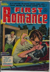 First Romance #25 1953-Harvey-violent love triangle-spicy Bob powell art-VG+