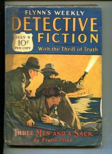 FLYNN'S WEEKLY DETECTIVE FICTION-JULY 9 1927-MYSTERY-CRIME-CLOWN-good/vg
