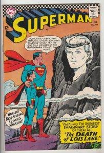 Superman #194 (Feb-67) VF/NM High-Grade Superman, Jimmy Olsen,Lois Lane, Lana...
