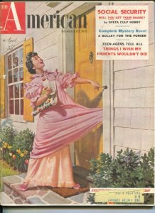 American Magazine 4/1955-Hugh b Cave-pulp fiction-classic car ads-VG