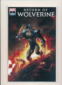 Marvel RETURN OF WOLVERINE #1 Clayton Crain VARIANT FIRE NEW CLAWS  NM (RS7)