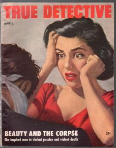 True Detective 4/1953-MacFadden-Good Girl Art-DL Champion-pulp crime-FN-