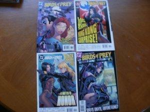 4 DC Comic: BIRDS OF PREY #61 Tough Choices #62 Shiva Canary #63 Honor #64 Home