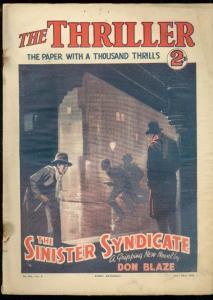 THRILLER #233-BRITISH DIME NOVEL-JULY 22 1933 FR/G
