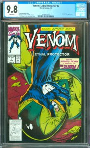 Venom: Lethal Protector #3 CGC Graded 9.8 Spider-Man appearance.