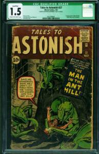 TALES TO ASTONISH #27 1962 -CGC 1.5-KEY ISSUE- 1st ANT-MAN- 2023780001