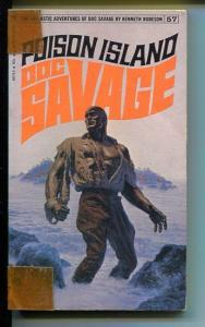 DOC SAVAGE-POISON ISLAND-#57-ROBESON-G-JAMES BAMA COVER-1ST EDITION G
