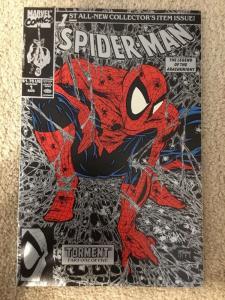 Spider-Man 1 Todd McFarlane Silver Variant VF+/NM 1990