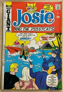 JOSIE AND THE PUSSYCATS #59 (Archie,12/1971) VERY GOOD (VG) Dan DeCarlo