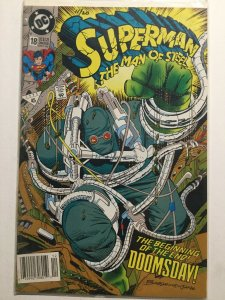Superman The Man Of Steel 18 Vf 8.0 Newsstand Edition 1st First Doomsday Dc