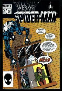 WEB of SPIDER-MAN #12, VF/NM, Black suit, 1985 1986, more Marvel in store