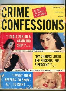 CRIME CONFESSIONS-08/1956-GANGLAND MOB-MICKEY COHEN-CHARMERS-PROSTITUTES G