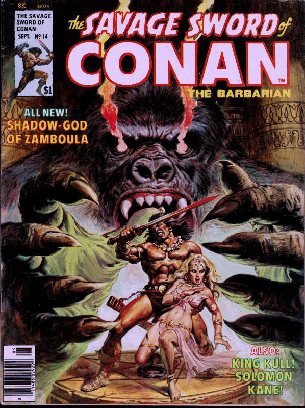 Savage Sword of Conan #14 - Early Conan Magazine - 6.0 or Better