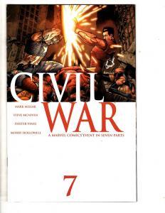 Civil War # 7 VF Marvel Comic Book Iron Man Captain America Thor Spider-Man CA1