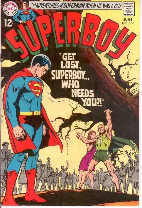 SUPERBOY 157 F+ LAST 12 CENT COVER NEAL ADAMS COVER COMICS BOOK