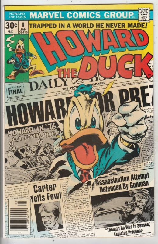 Howard the Duck #8 (Jan-77) VF/NM+ High-Grade Howard the Duck