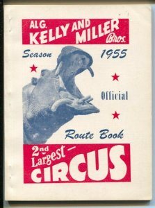 Al G. Kelly and Miller Bros Circus Route Book 1955-photos-ads-103 pages-VF