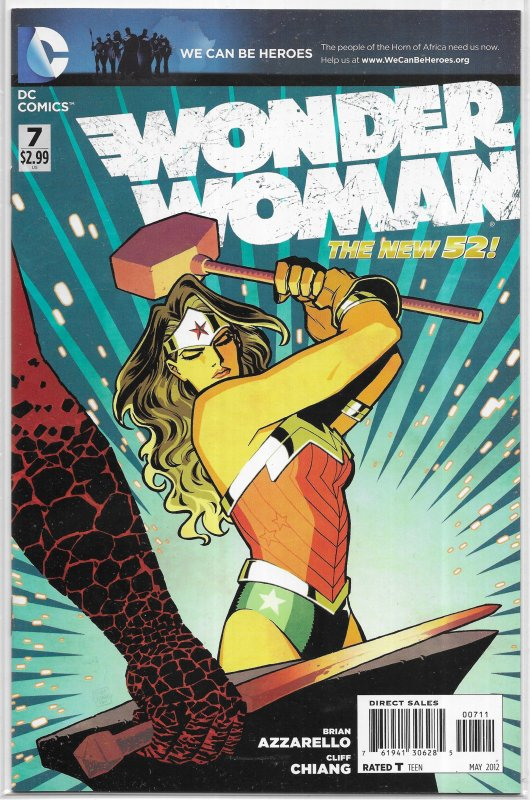 Wonder Woman (vol. 4, 2011) # 7 VF/NM (New 52) Azzarello/Chiang