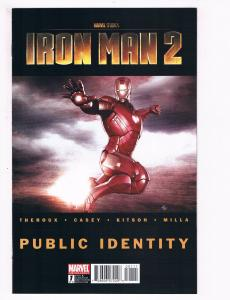 Iron Man 2 Public Identity # 1 Of 3 Marvel Comic Books Avengers Black Widow! S94