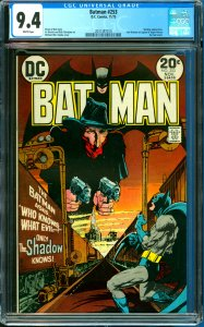 Batman #253 CGC Graded 9.4 Shadow appearance