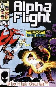 ALPHA FLIGHT (1983 Series)  #31 Very Fine Comics Book