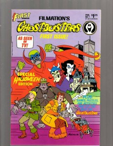 Filmation's Ghostbusters # 1 NM First Comics Comic Book TV Show World Trade SB5