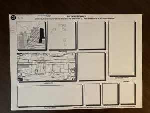 Who's Who in the DC Universe #4 Page 36 Original Art S.T.A.R. LABS 1990