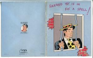 Li'l Abner Get Well Card-Al Capp-1950-original envelope included-FN