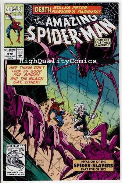 SPIDER-MAN #372, VF/NM, Black Cat, Bagley, Amazing, 1963, more ASM in store