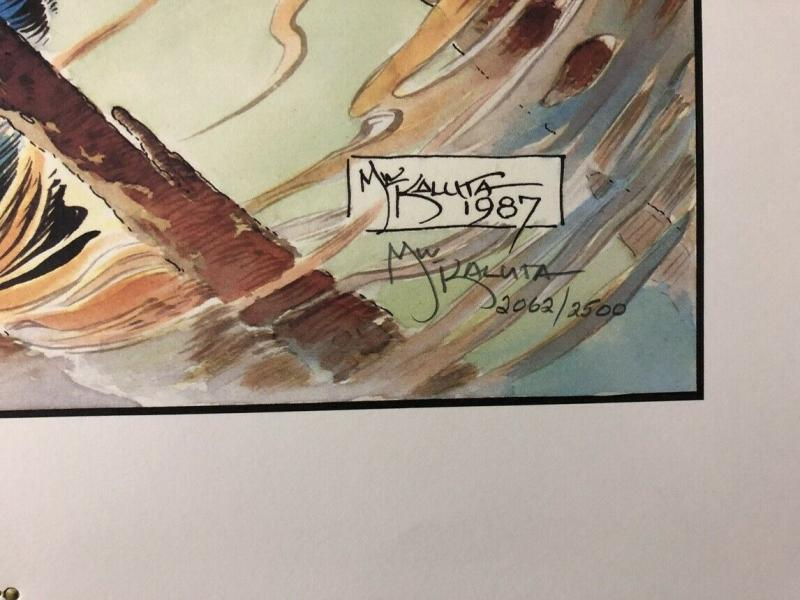 The Shadow - Ablaze Limited Signed Print by Michael Kaluta 2062/2500